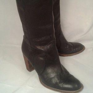 MICHAEL KORS l Tall black leather boots 7 1/2